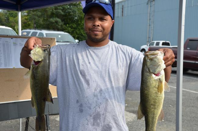 Marvin Reese of Gwynn Oak, Md., finished the day in third place overall in the Co-angler Division with a catch of 12 pounds, 7 ounces.