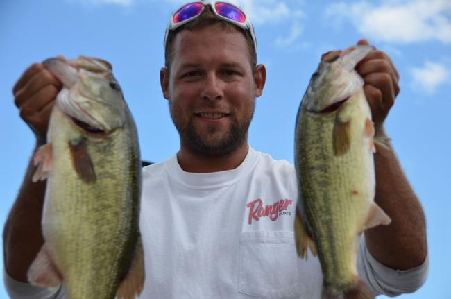 Pro Matt Stasiak of Pittsburgh, Pa., finished day two in second place overall at the EverStart Series Chesapeake Bay event.