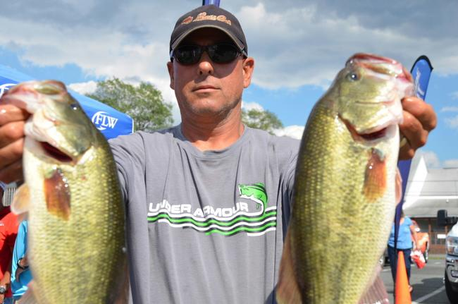 Pro Dan Rodriguez of Monkton, Md., qualified for the finals in fifth place after day two of EverStart competition on the Chesapeake Bay.