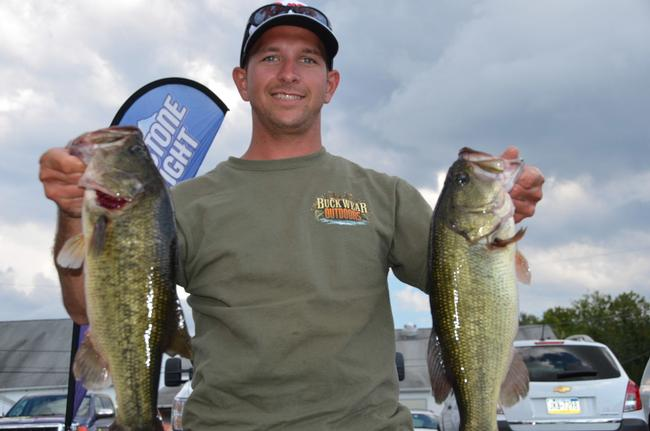 Co-angler Thomas Bavaro III of Joppa, Md., leapfrogged from 18th place to second on the strength of a two-day 21-pound, 4-ounce catch.