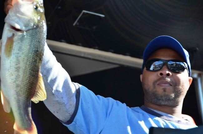 Co-angler Marvin Reese of Gwynn Oak, Md., grabbed second place overall at the EverStart Series event on the Chesapeake Bay.