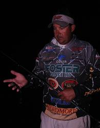 Texas Division points leader Stephen Johnston is angling for a 2014 Forrest Wood Cup berth at the season finale at Rayburn with a worm in the grass.
