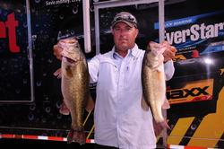 Kris Wilson of Montgomery, Texas, moved up a couple of spots to fourth place with a two-day total of 32 pounds, 10 ounces.