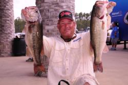 Tommy Dickerson of Orange, Texas, rounds out the top five with a two-day total of 31 pounds, 12 ounces.