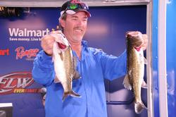 Mike Power of Conroe, Texas, now leads the Co-angler Division with a two-day total of 18 pounds, 7 ounces.