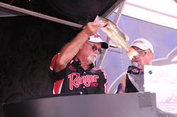 Co-angler Bill Fussell of Thibodaux, La., finished third with a three-day total of 25 pounds, 3 ounces..