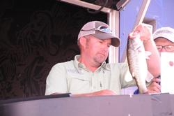 Co-angler Kevin Burks of Kountze, Texas, finished runner-up in the Co-angler Division with a three-day total of 25 pounds, 7 ounces.