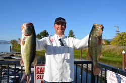 Jason Milligan of Shasta Lake, Calif., takes the second spot with a 26-14 limit.