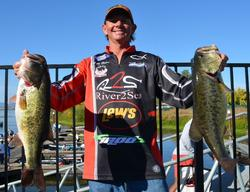 Rounding out the top-five pros is Billy Hines who holds a two-day total weight of 48 pounds, 15 ounces.
