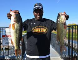 Co-angler Dante Ray of Sparks, Nev., whacked 24 pounds, 6 ounces on day two to claim the lead with a two-day total weight of 43-12.