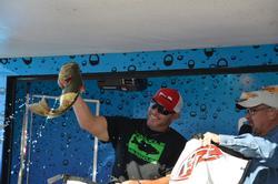 Jody Jordan pulls out fish No. 4.