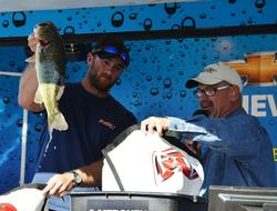 Bryant Smith rallied on the final day with a 29-pound, 1-ounce catch to  give him third place with 77-8 over three days.
