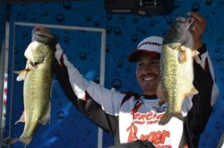 Joe Uribe Jr. takes fourth place with 76 pounds, 5 ounces for his three-day total.