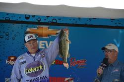 Co-angler John Stewart Jr. weighed an impressive 21 pounds, 13 ounces with four fish to settle in second.