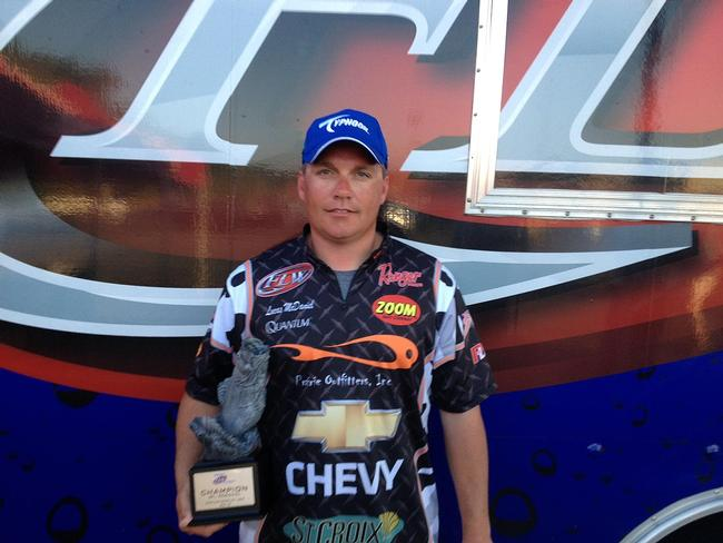 Co-angler Lucas McDaniel of Fishers, Ind., won the Walmart BFL Regional Championship on Kentucky Lake on Oct. 12 with a total, three-day catch of 46 pounds, 13 ounces. For his win, McDaniel netted a brand new Ranger Z519 bass boat with a 200 HP outboard engine.