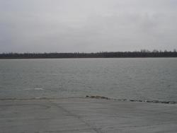 Ohio River boat ramp.