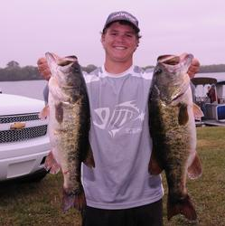 Jared McMillan of Belle Glade, Fla., holds down the third place spot after day one with 19 pounds, 4 ounces.
