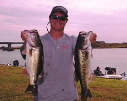 Jared McMillan of Belle Glade, Fla., is in third place with a two-day total of 33-10.