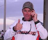 Keith Pace of Monticello, Ark., gives the thumbs up after finding out he finished the day in 5th place with a two-day total of 31 pounds, 14 ounces.