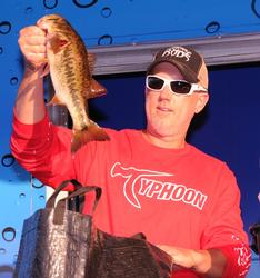 Keith Fels shows off his tournament winning fish.