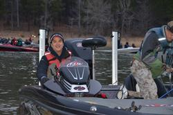 Chevy pro Jay Yelas is all smiles and he returns to his favorite lake.