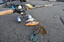 McCall utilized a variety of Rat-L-Traps along with a Santone football jig and a 6th Sense squarebill to win the event.