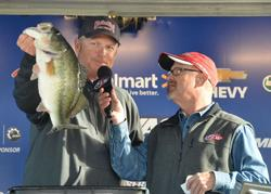 Phil Marks of Dallas, Texas, took big bass honors on day two with a 7-pound, 10-ounce hog.