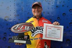 Co-angler Keith Honeycutt adds another trophy to his collection this week.