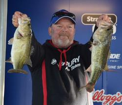 Steve Hope of Alba, Texas, claims fourth place on the co-angler side with his two-day total of 20 pounds.