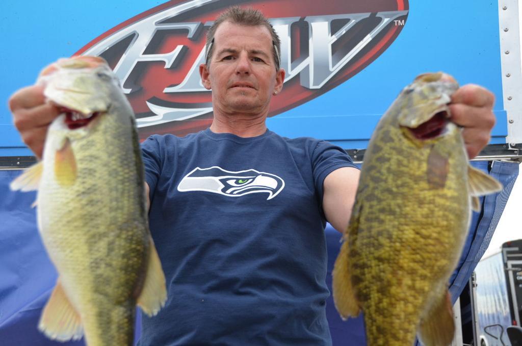 Skinner in control on lake havasu flw fishing articles for Lake skinner fishing report
