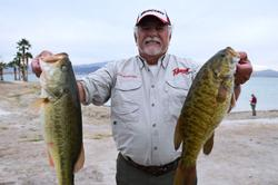 Using a total catch of 19 pounds, 7 ounces, pro Ed Arledge of Valley Center, Calif., finished the first day of Lake Havasu competition in fourth place.