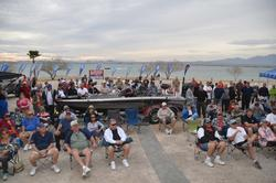 A nice crowd soaks in the sights during the opening round weigh-in at Lake Havasu.