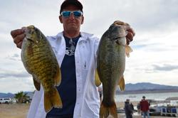 Pro Gary Pinholster of Lake Havasu, Ariz., netted a catch of 35 pounds, 3 ounces to head to the finals in fourth place.