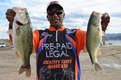 Co-angler Roy O. Desmangles of Lincoln, Calif., grabbed the fifth qualifying position on Lake Havasu with a total catch of 20 pounds, 10 ounces.