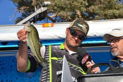 Co-angler Daniel Leue of Colusa, Calif., used a total, three-day catch of 25 pounds, 1 ounce to ultimately finish the Lake Havasu event in fourth place.