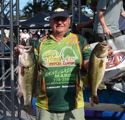 Leon Williams sits in fourth place after catching a two-day total of 41 pounds, 2 ounces.