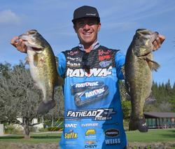 Jacob Wheeler caught a 27-pound, 14-ounce limit and finished the tournament in 21st place.