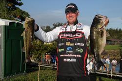 Randall Tharp says an angler should first find out what kind of weight it takes to win on a particular fishery at the time of year you