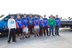 Bartow High School had a strong showing at the High School Fishing Open on the Caloosahatchee River Feb. 9 in Moore Haven, Fla., with four teams entered in the competition. Here, they pose with Walmart FLW Tour veteran Scott Martin.