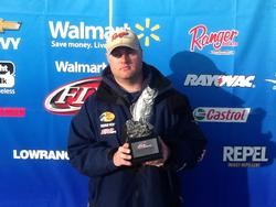 Co-angler Collin Bruce of Florence, Ala., won the Feb. 15 Mississippi Division event on Pickwick Lake with three bass weighing 11 pounds, 3 ounces. He walked away with  $1,940 for his efforts.