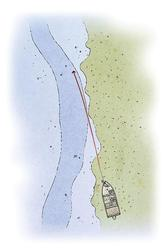 The backup plan: Position boat above grass, cast out off the edge and maintain bottom contact.