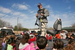 FLW Tour pro Koby Kreiger teaches students the importance of boater safety.