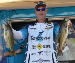 Andy Morgan moved up to third place after catching an 11-pound, 13-ounce stringer Saturday.