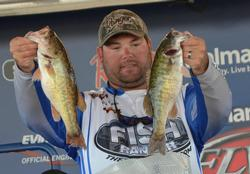 Clent Davis sits in second place after three days with a total weight of 43 pounds, 1 ounce.