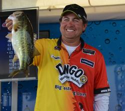 John Cox finished fifth on Lake Hartwell targeting largemouths in shallow water with a lipless crankbait.
