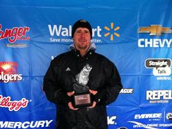 Co-angler John Hubbard of Broken Arrow, Okla., took home the tournament title at the March 8 BFL Okie Division event on Grand Lake with a total catch of 10 pounds, 7 ounces. For his efforts, Hubbard won more than $2,600 in prize money.