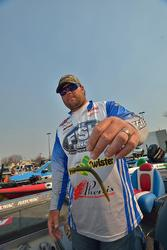 Clent Davis' most productive lure was a wacky-rigged Mr. Twister Comida.