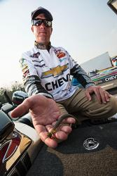 Chevy pro Anthony Gagliardi made a serious bid to qualify for the Forrest Wood Cup on his home lake by finishing seventh with a Buckeye Lures Spot Remover shaky head rigged with a 5 1/2-inch soft-plastic stick bait.