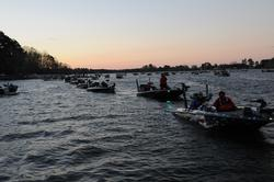 With 170 boats in the field, the checkout line was long this morning.