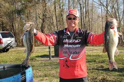 Brett Mitchell of Timmonsville, S.C., rounds out the top five with a five-bass limit for 24 pounds, 2 ounces.